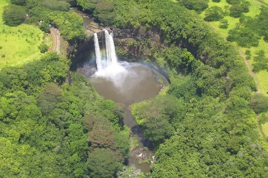 Wings Over Kauai Air Tour: Fantasy Island waterfall!