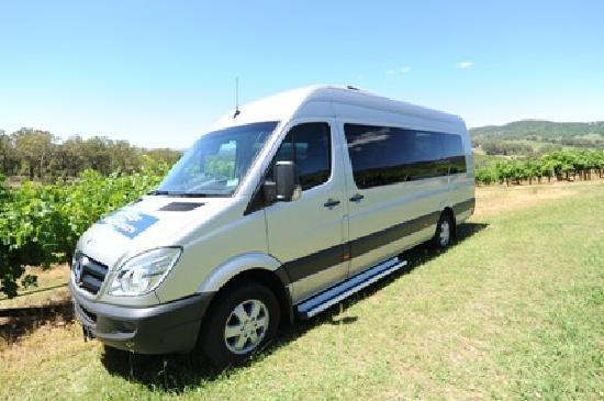 Hunter Valley Wine Tasting Tours: Luxury Mercedes Benz Mini-Coach: Air-con, extra legroom, tinted windows, on-board fridge