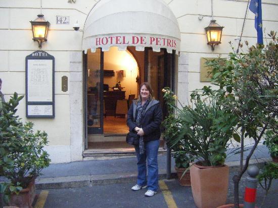 outside the boutique Hotel de Petris