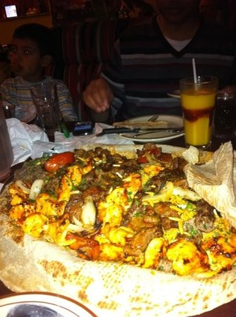 Al Bawadi Restaurant: this is the platter for five!!!!