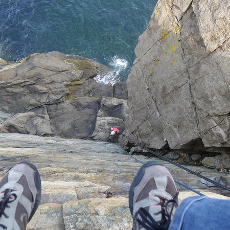 Atlantic Climbing School: Just another day at Otter Cliffs.