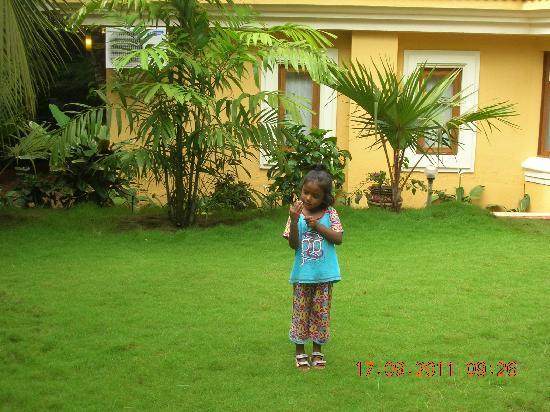 Bougainvillea Guest House Goa: Small garden