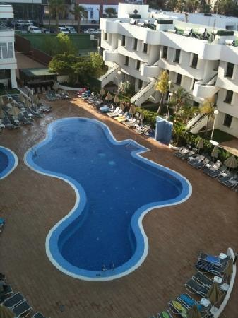 Sunprime Coral Suites: pool view from room 312 with air con