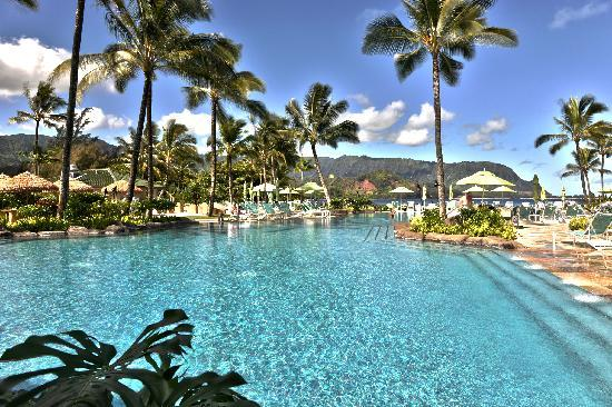 St. Regis Princeville Resort: The fantastic pool and view