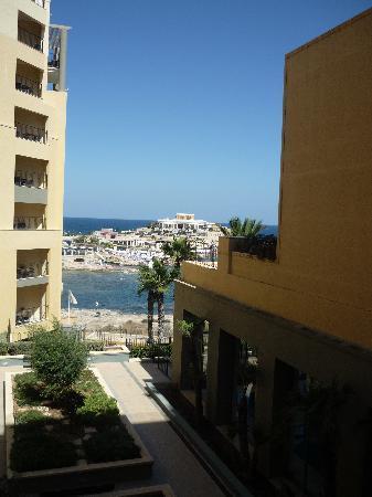 โรงแรมฮิลตันมอลท่า: View from our balcony