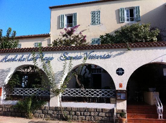 Hotel de la Plage Santa Vittoria: entrée de l'hotel