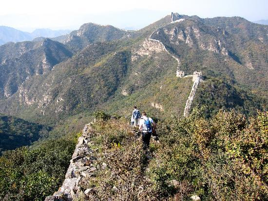 The Great Wall Hike (James Private Tour): Along the ridge at Jiankou section