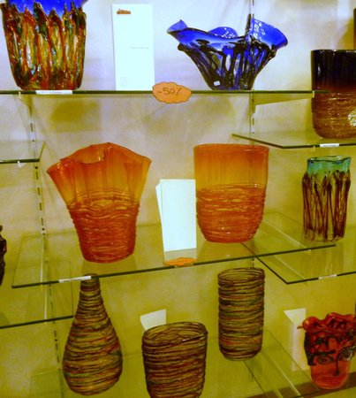 Museo del Vetro: prodotti in vetro