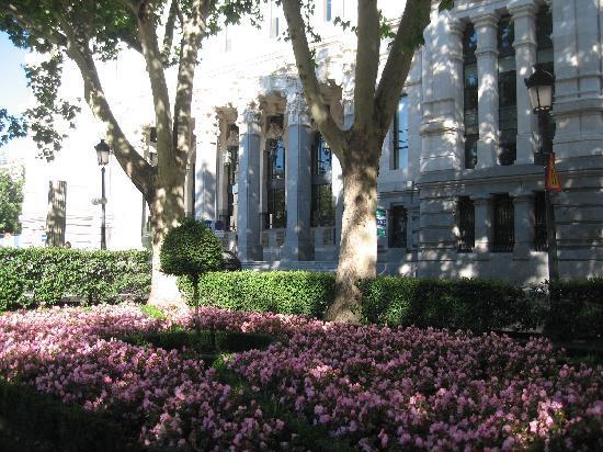 CentroCentro Cibeles: gardens arround