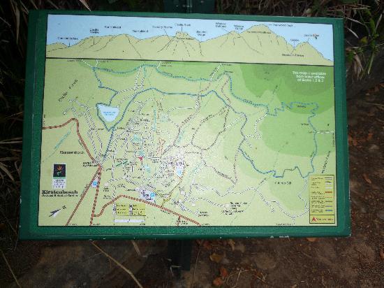 Kirstenbosch National Botanical Garden: Übersichtskarte