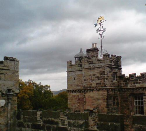 Chillingham Castle: Ramparts and weather vane