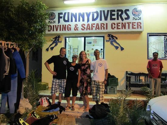 Scuba Hurghada Diving Center: Rob, Janneke, Marjolein and Sayed