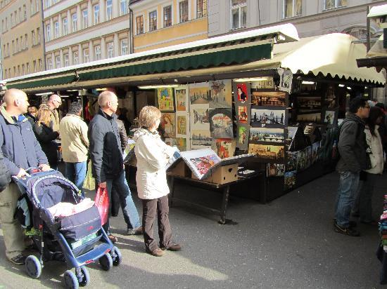 Havel's Market: the market stalls on a sunny afternoon