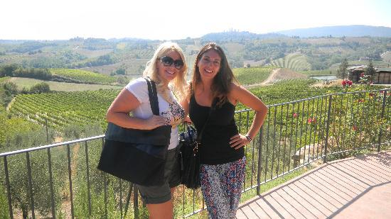 Walkabout Florence Tours: Me and Barbara, our guide at the Tuscan Vineyard