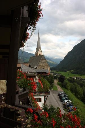 Landhotel Post Heiligenblut: Uitzicht balkon Post Hotel Heiligenblut(2).