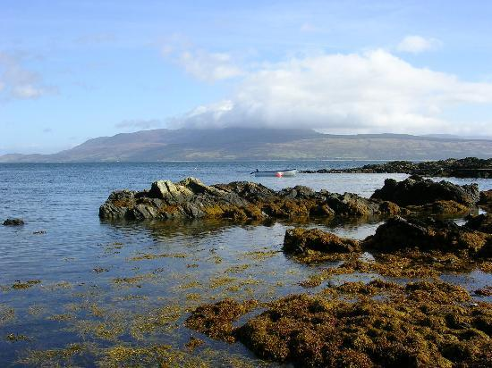 Dunvalanree: The view from the shore road at Carradale, looking towards Arran