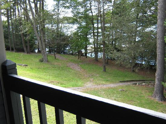 Tanglwood Resort: Lower deck view from #626