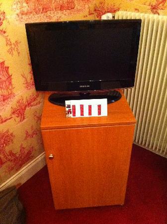 Chateau d'Isenbourg: j'avais jamais vu ça : une tv sur 1 frigo !