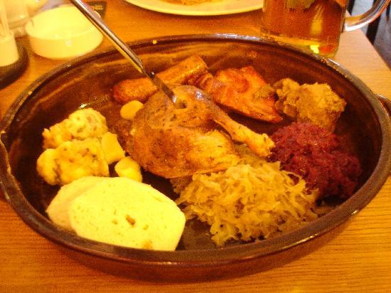 V Kolkovne Restaurant: Old Czech Kolkovna platter - VERY FILLING!