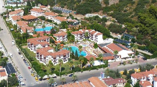 Alize Hotel: Hotel Alize from the air (orange water shute)