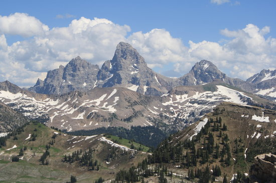Grand Targhee Ski Resort: teton view from the top