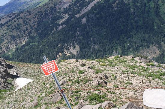 Grand Targhee Ski Resort: we liked this sign!