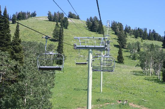 Grand Targhee Ski Resort: chair lift up