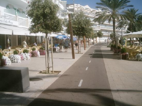 Marina square Cala bona hotel on left