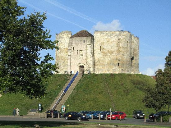 Clifford's Tower: The tower and it`s steps.