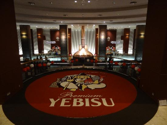 Museum of Yebisu Beer: Overlooking the main hall and the beer-tasting stage.