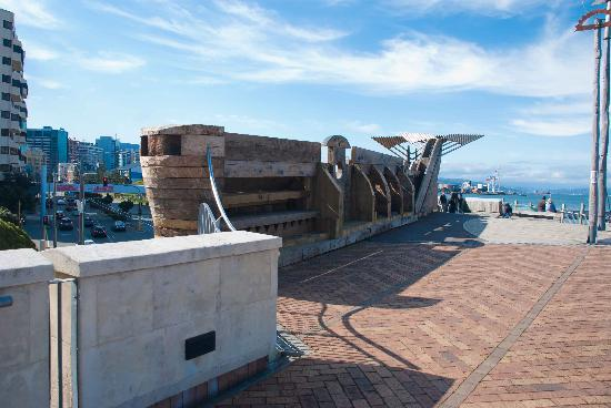 City to Sea Bridge: Back of the feature art