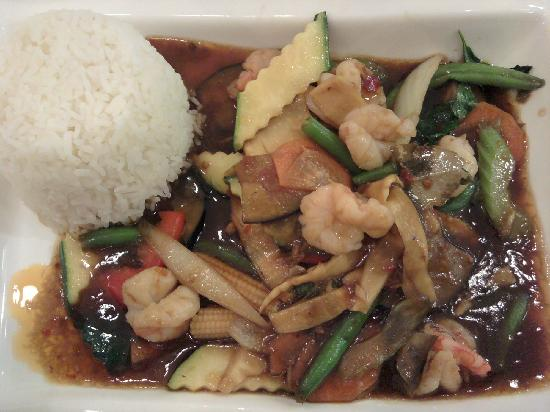 Asia Gourmet: With shrimps, vegetables and spicy - Excellent !