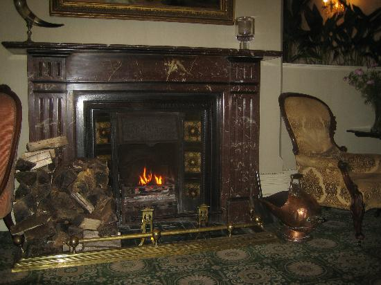 Park Hotel Kenmare: Marble fire to greet you in the lobby