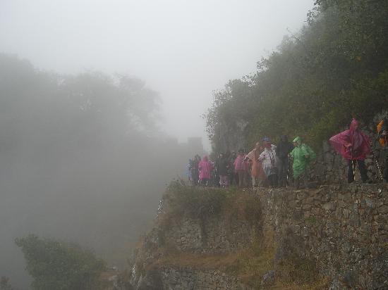 SAS Travel Peru: Nearing the sun gate in the rain (boo hoo)