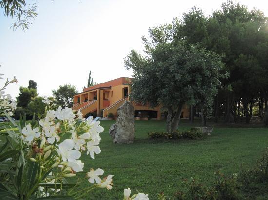 Sole del Mediterraneo: verde intorno alle camere