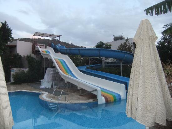 Izer Hotel & Beach Club: Water slides - Club side pool