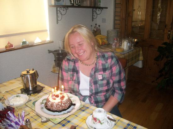 Castle Lodge Bed & Breakfast: a suprise birthday cake for emma from eithne and gerry