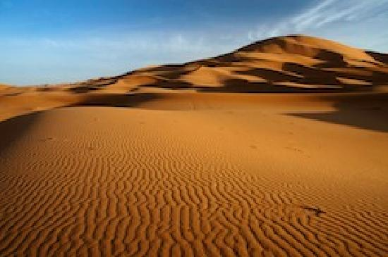 Travel Exploration Morocco Private Tours: Merzouga Erg Chebbi Golden Dunes