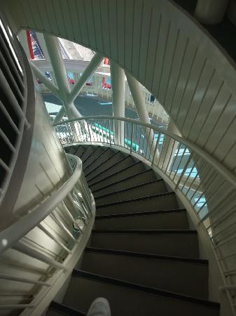 Kobe Port Tower: Stairwell from Sky Lounge Level