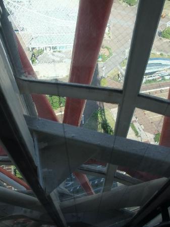 Kobe Port Tower: Elevator Descent View