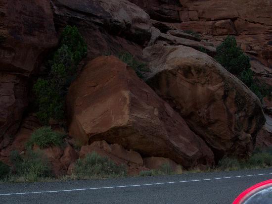 ยูทาห์: Freak Out- driving along this road with huge boulders hugging the side of the road.