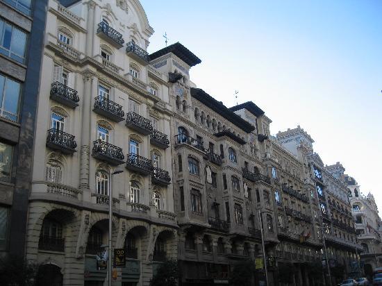 มาดริด, สเปน: gran via - houses
