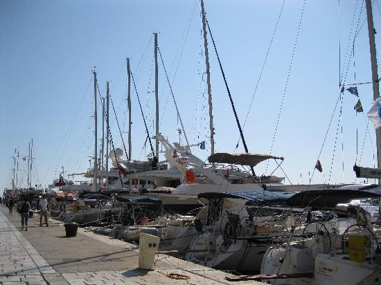 Apartments Ivanovic: Posh yachts in the harbour