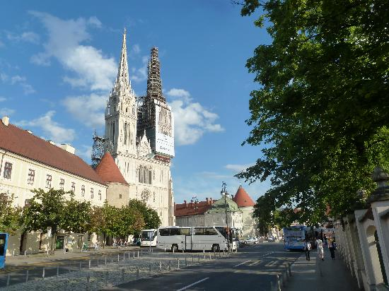 Cathedral of the Assumption: From street north of cathedral