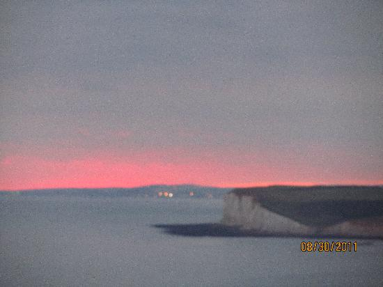 Belle Tout Lighthouse: sunset from lantern room