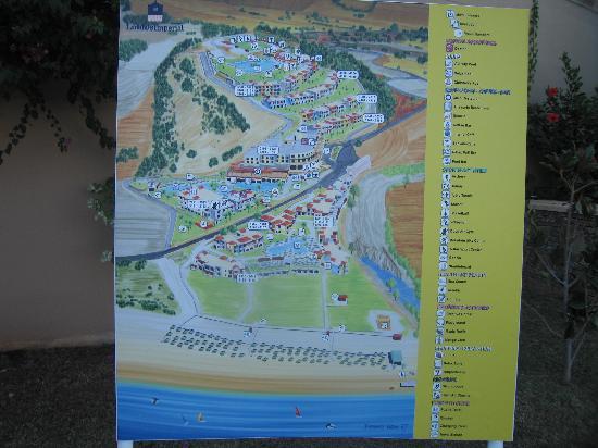 โรงแรมลินดอส อิมพีเรียล: La piantina del villaggio