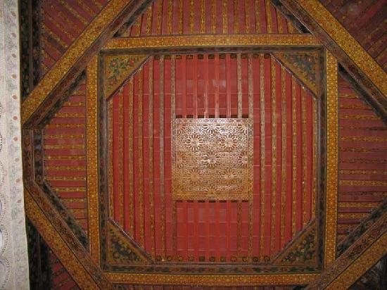 Dar Ines Moulay Idriss : Bit Sidi interior ceiling