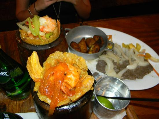 Raices: Plantains two ways - mofongo and fried!