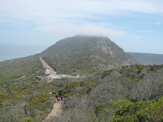 Cape of Good Hope: Blick auf Parkplatz und Zufahrtsstraße