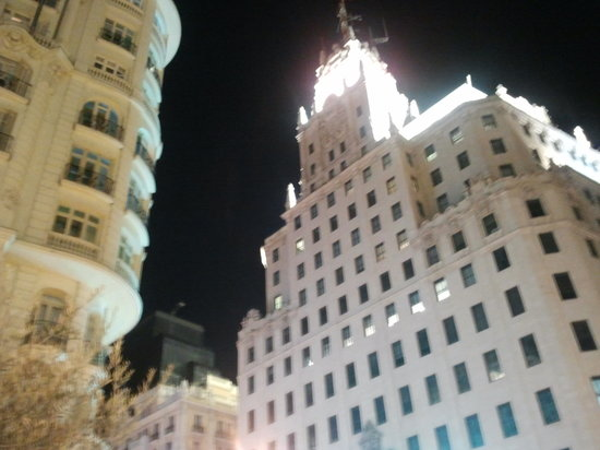 Madrid, Spain: gran via buildings - a little new york